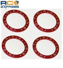 Hot Racing Tamiya CR-01 Red Aluminum Bead-Lock Ring (4) TCR1002