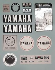 YAMAHA RD400E RD400F RD250E RD250F  WARNING DECAL KIT
