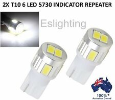 2x T10 12v W5w Indicator Repeater LED Car Tail Side Lights Turn Park Bulb White