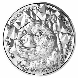 2021 Blockchain Mint DogeCoin Cryptocurrency 1 oz Silver Medal BU PRESALE