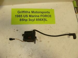 1985 FORCE outboard 85hp 3cyl 856x5l 86? 84? oem ignition coil spark plug wire