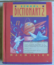 Macmillan School Dictionary No. 2, 1990 NICE HB! gr.4 5 6 color,reference sectio