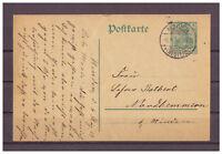Deutsches Reich, Ganzsache P 90 Minden nach Nordhemmern 06.08.1914
