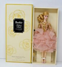Gold Label Silkstone Barbie Blush & Gold Cocktail Dress DWF55 Brand New Rare