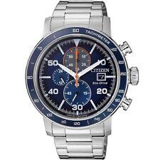 Citizen Eco Drive CA0640-86L Blue Dial Steel Men's Chronograph Solar Watch