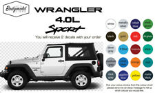 JEEP WRANGLER 4.0L SPORT decals