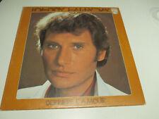 """Johnny Hallyday  """"Derrière l'amour"""" 33 t vinyle,"""