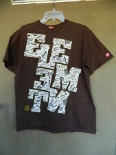 Element Skate T Shirt Block Stacked Letters Graphic T Shirt Brown Size Large
