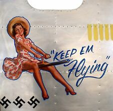 NOSE ART PANEL- Repro B-17 & other  WW II Aviation U.S. Army Air Corps  NAP-0112