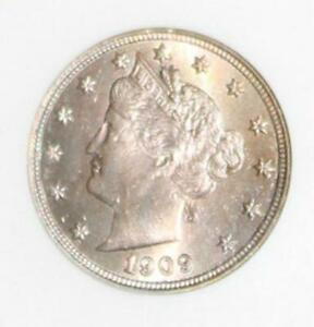 1909 MS 64 Iridescent Rose Toned Liberty Nickel-1st Generation Holder