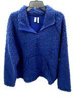 Z By Zella Womens XL Teddy Bear Pullover Furry Quarter Zip Athleisure Jacket