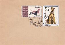 O219 enveloppe thème CHIEN oblitération 17eme Expo nationale de VARSOVIE 1965