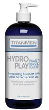 TITANMEN HYDRO PLAY WATER BASED GLIDE TitanMen Hydro Play is the ultimate