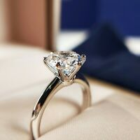 925 Sterling Silver High Quality 2CT Carbon Diamond Wedding Engagement Ring R168