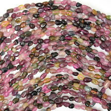 "3-4mm multicolor tourmaline nugget beads 16"" strand"