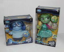 Disney Store INSIDE OUT Talking Disgust & Sadness Deluxe Figure Dolls NOTWORKING