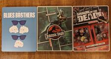 Jurassic Park, Shaun of the Dead, The Blues Brothers (Blu-ray) Steelbook Lot Oop