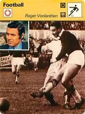 FICHE CARD: Roger Vonlanthen Suisse Switzerland Attaquant Forwar  FOOTBALL 1970s