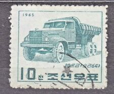 KOREA 1965 used SC#589 stamp, Victory-64, 10-Ton Truck.