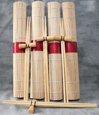 Four Place Set: Bamboo Placemats, Chopsticks & Rests. BN