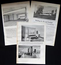VILLA TUGENDHAT BRNO LUDWIG MIES VAN DER ROHE ARCHITECT 3pp PHOTO ARTICLE 1932