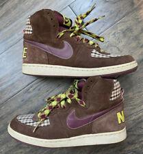 New listing Nike Terminator High, Size 9 | Plaid, Brown, Purple, Green | Barely Worn