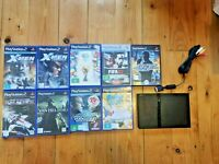 PS2 CONSOLE BUNDLE W/ 9 GAMES - CONSOLE NOT WORKING PLAYSTATION 2 SLIM