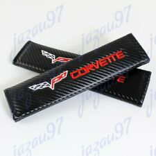 New Black Carbon Look Seat Belt Cover Shoulder Pads for Corvette Stingray Z06 X2