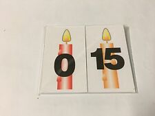 Birthday Candles Numbers - 36 Laminated Picture Cards- Teaching Supplies MATH