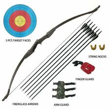 40LBS Archery Recurve bow Longbow Set Arrow Outdoor Hunting Target Practice