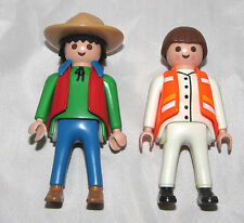 PLAYMOBIL Older Geobra Vintage Man & Woman Safety Vest and String Tie