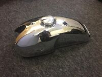 NEW BENELLI MOJAVE CAFE RACER CHROME PETROL TANK WITH MONZA CAP