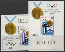 BELIZE SGMS576 1980 WINTER OLYMPIC GAMES MEDAL WINNERS MNH