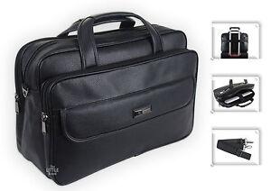 Mens Black Laptop Bag Business Briefcase Messenger Satchel Work Office Bag - 183