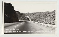 Arizona AZ Real Photo RPPC Postcard 40s near MIAMI & SUPERIOR Devils Canyon #1