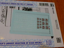 Microscale Decal N #60-1444 Western Pacific (WP) Steam Locomotives (Decal Sheet)