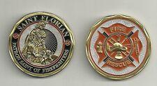 SAINT FLORIAN  PATRON FIREFIGHTERS FIRE CHALLENGE COIN