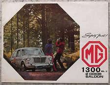 Mg 1300 MK II 2 PUERTAS SEDÁN FOLLETO de ventas 1968 #2587