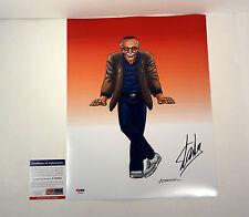 STAN LEE MARVEL COMICS SPIDERMAN SIGNED AUTOGRAPH 11X14 PHOTO PSA/DNA COA #1
