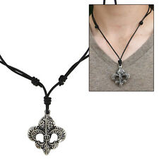 Medieval Monarchs Fleur de Lis Fashion Pendant Necklace