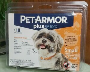 PetArmor Plus Flea & Tick Prevention for Small Dogs 5-22 lbs 3 Applications