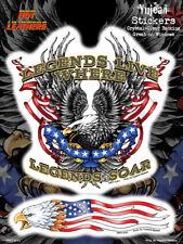 AUTOCOLLANT BIKER - LEGENDS LIVE / AIGLE US  XL  STICKER VINYL DECO USA / BIKER