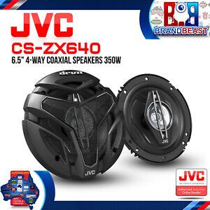 """JVC CS-ZX640 DRVN ZX Series 6.5"""" 350W 4-Way Coaxial Speakers"""