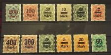 Germany States Wuerttemberg 1906 MH Officials Set OVERPRINTS