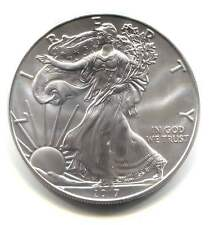 2017 US Silver Eagle One Dollar Frosted Coin - One Ounce .999 fine Silver