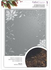 Crafters Companion 3d Embossing Folder 5x7 - Pretty Poinsettia Transparent