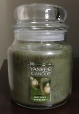 Yankee Candle - HOLIDAY BAYBERRY - 14.5oz Medium Jar ~ Pine Laurel Frankincense