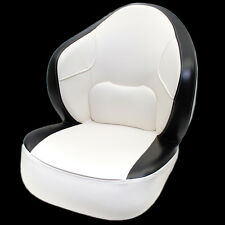 DELUXE OFF WHITE / BLACK BOAT CAPTAIN / BUCKET / FISHING SEAT CHAIR (SINGLE)