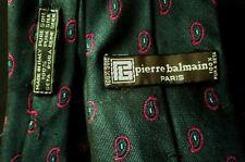 ***PIERRE BALMAIN Paris Cravatta Tie in SETA 100% originale