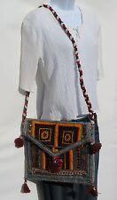 Authentic Vintage Gypsy Banjara Tablet Size Shoulder Bag Boho Bohemian Patchwork